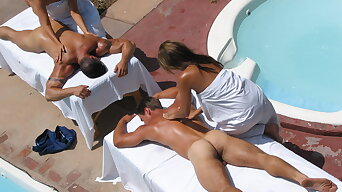 Watering-place STUDS RESORT- Clients massage naked male attendants