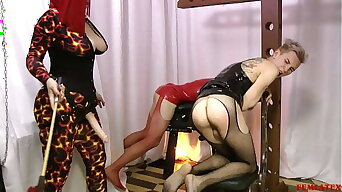 Mistress Spanking Butt Twink and Fuck in Mouth