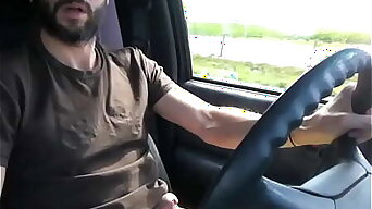 Driving, Stripping, Jerking, Cumming Cross-Country